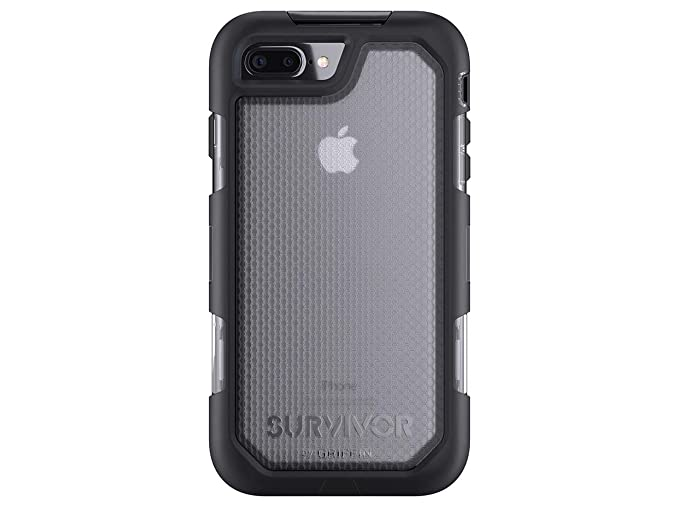 separation shoes f2e94 56fb2 Griffin Survivor Summit for iPhone 7 Plus, Black Clear - Maximum Drop  Protection and rain-Proof case for iPhone 7 Plus