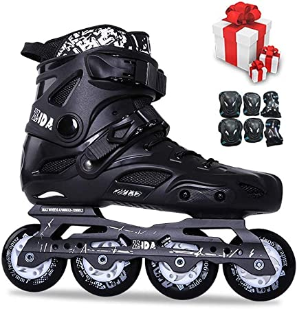 Speed Skates with 4 Wheels Outdoor Skates Roller Skates for Adults,White-EU35 Rollerblades for Boys,Roller Skates Women and Men Outdoor