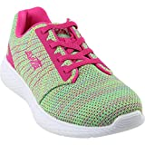 Avia Girls' Avi-Kismet Running Shoe, Highlighter Lime/Aruba Aqua/Pink Engery, 4 M US Big Kid
