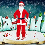 Little Boys Holiday Complete Santa Claus Suit Costume Fit for Boys 6-9 ages