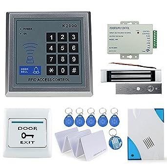 OBO HANDS Full RFID Door Lock Control de acceso teclado Kit + cerradura magnética eléctrica +