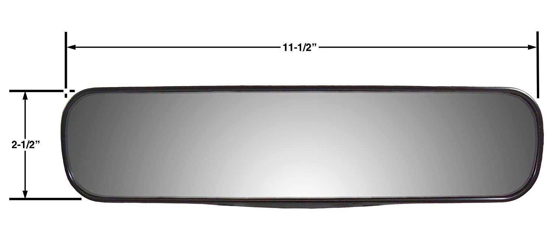 Amazon com cipa 34000 11 75 panoramic rearview clip on mirror automotive