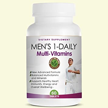 Best Multivitamin For Men >> Men S 1 Daily Multivitamin Best Multi Vitamins For Men Supports Healthy Heart Immunity