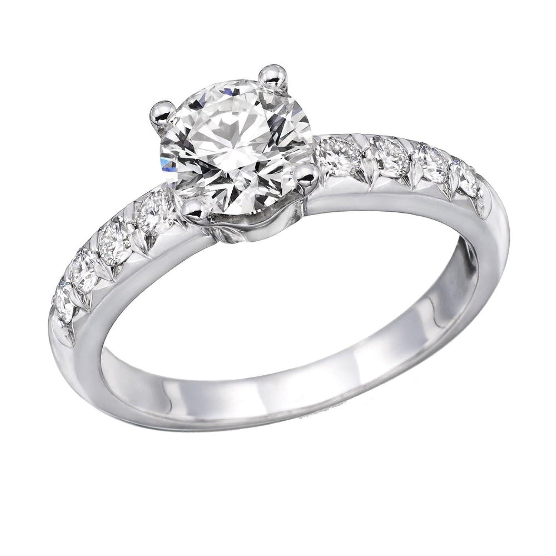 1 00 cttw igi certified diamond engagement ring in 14k white gold