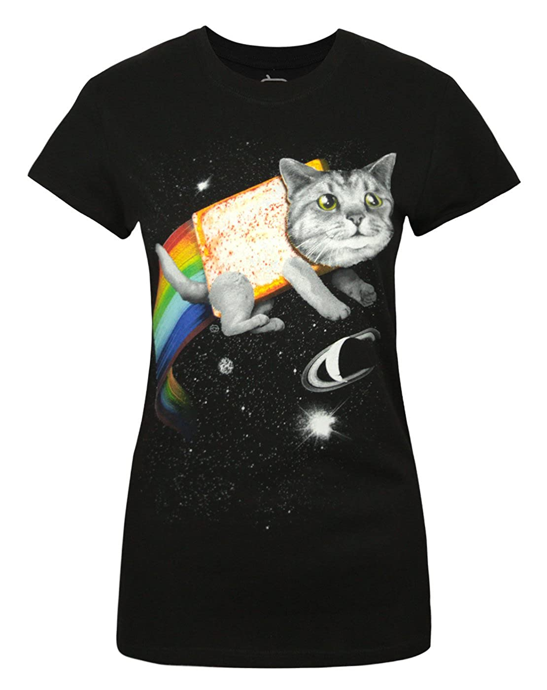 Mujeres - Goodie Two Sleeves - Space Cat - Camiseta (L): Amazon.es: Ropa y accesorios