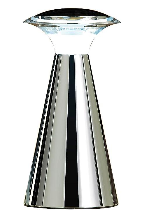 Lunartec Tischleuchte kabellos: Edelstahl LED-Tischleuchte (LED Tischleuchte kabellos)