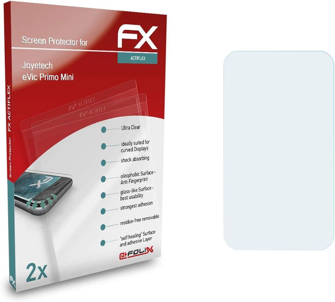 atFoliX Película Protectora compatible con Joyetech eVic Primo Mini Protector Película, ultra claro y flexible FX Lámina Protectora de Pantalla (2X)