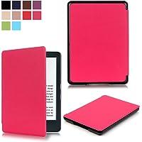 Capa para Kindle Básico da 8a geração - Rígida - Fecho Magnético - Hibernação - Várias Cores (pink)