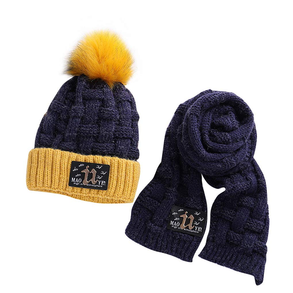 ACMEDE Cappello e Sciarpa Lavorati a Maglia per Bambini Invernali 2c44e05b9df1