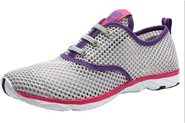 Hombres Zapatillas De Deporte Sin Cordones De Montañismo Deporte Running Zapatos para Correr Gimnasio Sneakers Deportivas Padel Transpirables Casual Zapatos de Red calados: Amazon.es: Zapatos y complementos