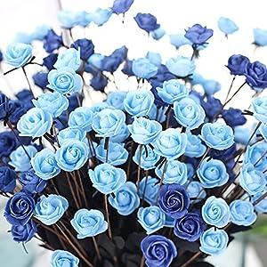 SHJNHAN Artificial Flowers, 1x Artificial PE Fake Flowers Rose Floral Wedding Bouquet Bridal Hydrangea Decor 3