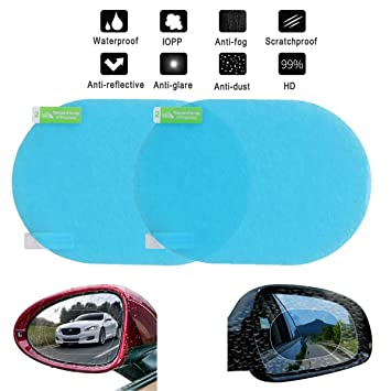 Nider Rear View Mirror Rain Film Car Anti Water Mist Film Anti Fog Nano Coating Rainproof Rearview Mirror Window Protective Film 2pcs 100mm