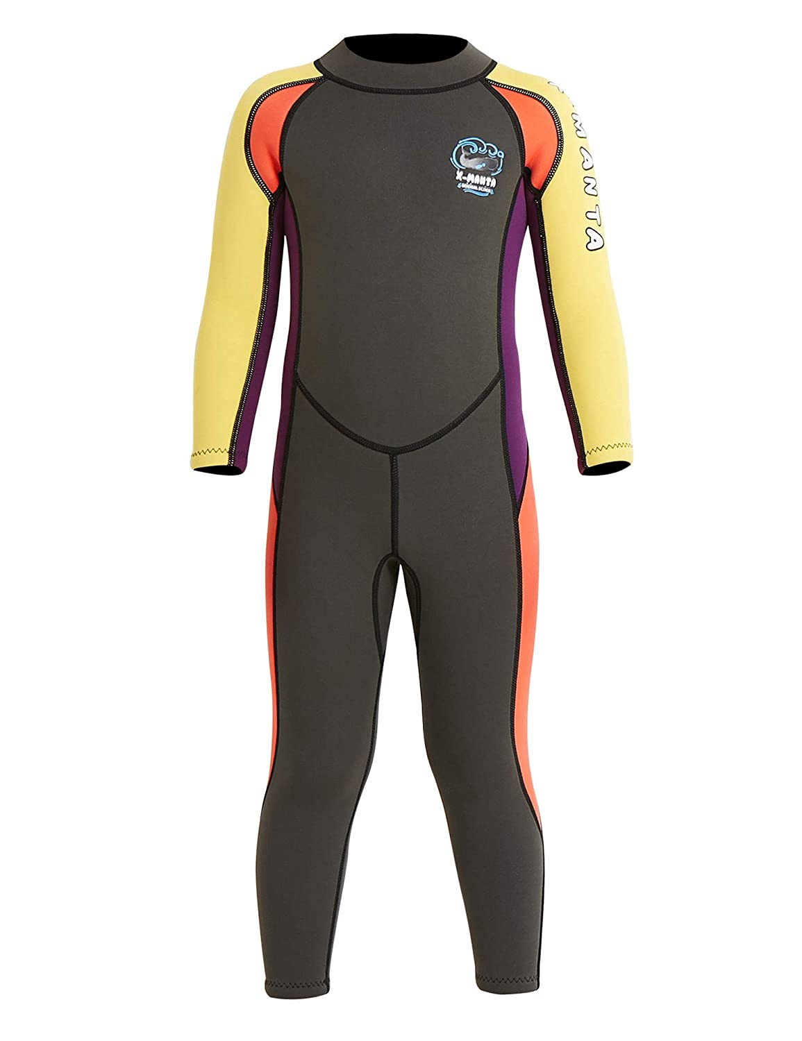 DIVE & SAIL Kids Wetsuit 2.5mm Neoprene Keep Warm for Diving Swimming Canoeing UV Protection by DIVE & SAIL