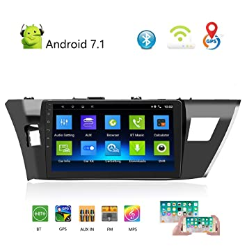 Podofo Radio de Coche estéreo Doble DIN Android para Toyota 14 Corolla (GL) 10