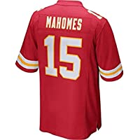 Men NFL Rugby Jersey Football Clothing-Mahomes #15 Kansas City Chiefs- Mens Rugby Fan T-Shirts Print Top Short Sleeve…