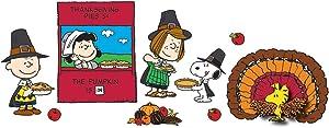 Eureka Charlie Brown Thanksgiving Classroom Bulletin Board Set, 18'' x 28'', 16 pc.