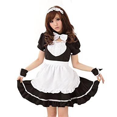 be10060a13515 M Eshop Women Sexy Lingerie Outfits Frisky French Maid Sexy Costume For Sex  (S)