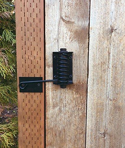 Gate Shut - Flat Gate Closer, Powder Coated, Self Closing Adjustable gate Closer for Wood Gates by Gate Shut (Image #2)
