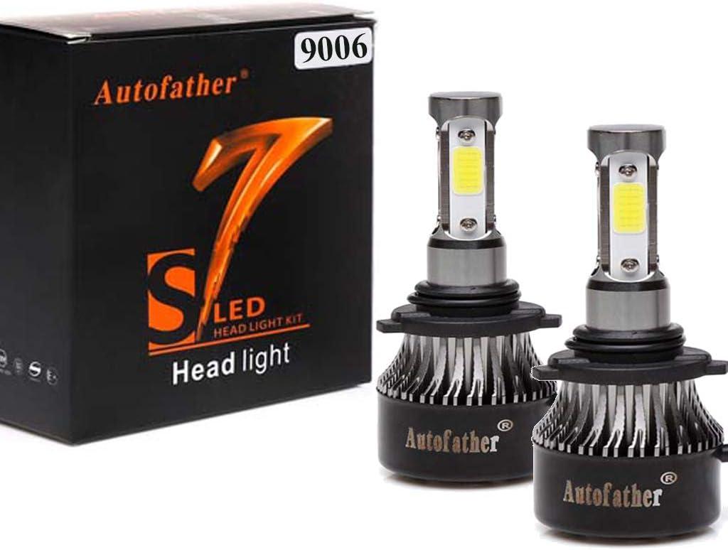 Upgrade 9012//HIR2 Bulb Replacement// 9012//HIR2 24000LM LED Headlight Conversion Kit//Hi//Lo beam Headlight Bulbs//Halogen Headlight Replacement// 240W 24000LM White Projector Beam Plug-N-Play A Pair