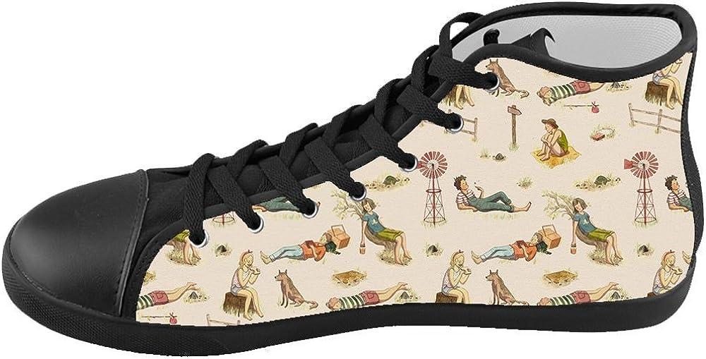 Custom Kids Shoes Illustration Art Top Canvas