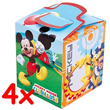 4 cajas de regalo * Mickey Mouse Club House * para Fiesta y ...