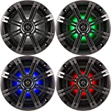 "Best Kicker Sound Quality Speakers - 1- Pair (2-Speakers) Kicker 6.5"" 195W LED Marine Review"