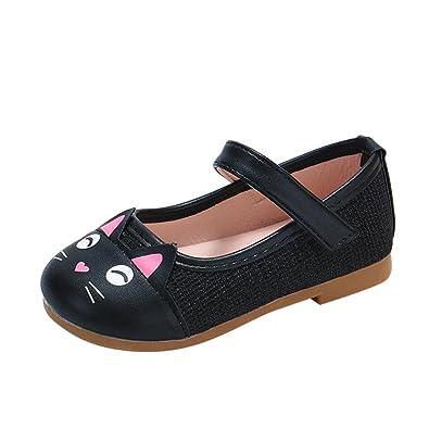 wuayi Toddler Baby Girls Children Cute Cartoon Cat Leather Single Shoes  Princess Shoe (4.5 UK 05bd0d9b2e3e