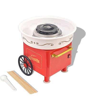 Festnight Máquina de Algodón de Azúcar Roja