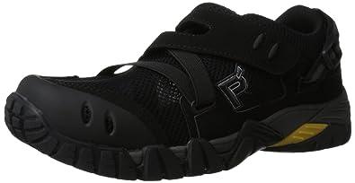 Propet Men's Explorer Water Shoe,Black/Dark Grey,8 X (3E)