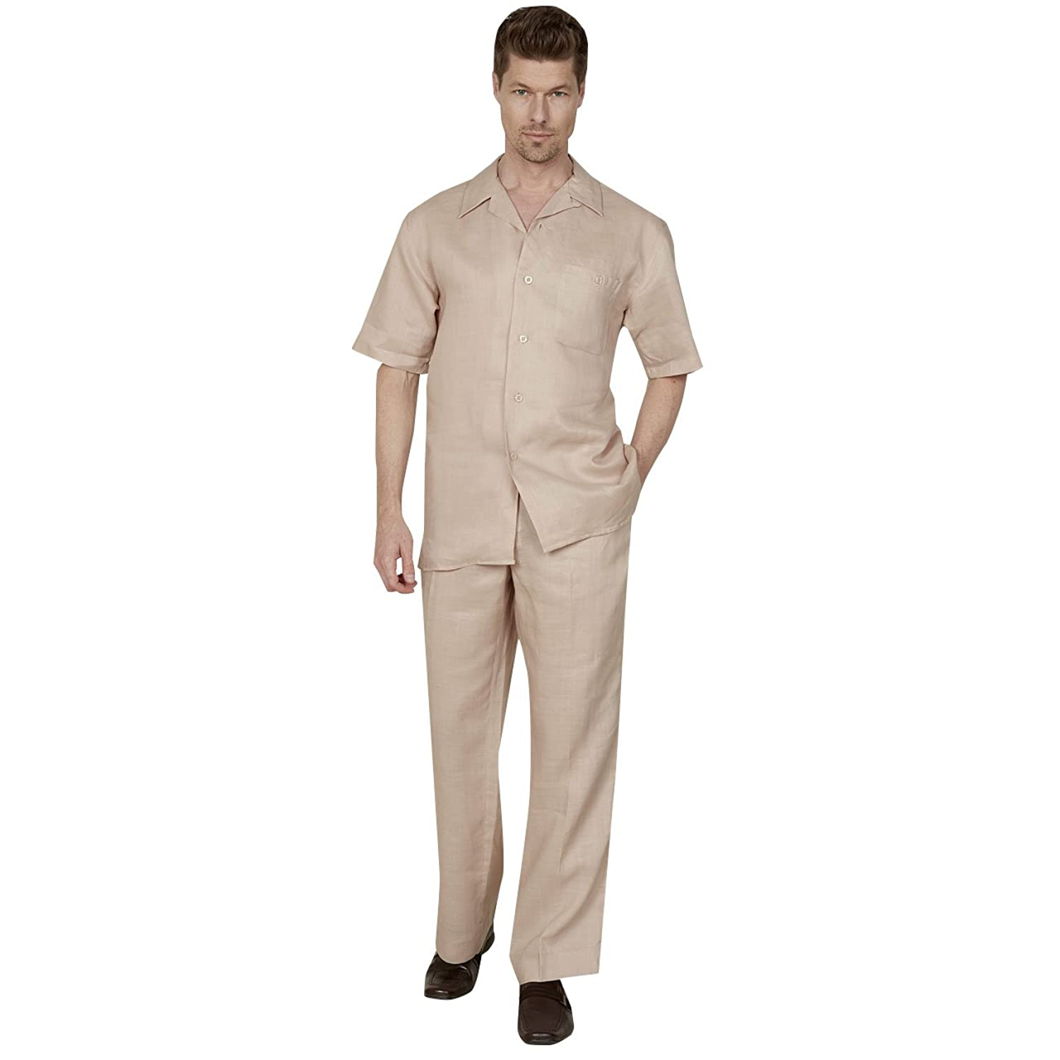 1930s Men's Costumes: Gangster, Clyde Barrow, Mummy, Dracula, Frankenstein  100% Linen Suit with 1-button Classic Pocket  AT vintagedancer.com