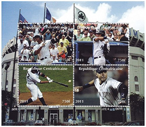 - Stamps for collectors - Baseball moments of the century with 4 stamps - 2011 / Central Africa