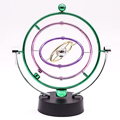 JLER Electronic Perpetual Motion, Cosmos Kinetic Mobile Desk Office Home Toy Decoration(Green): Toys & Games