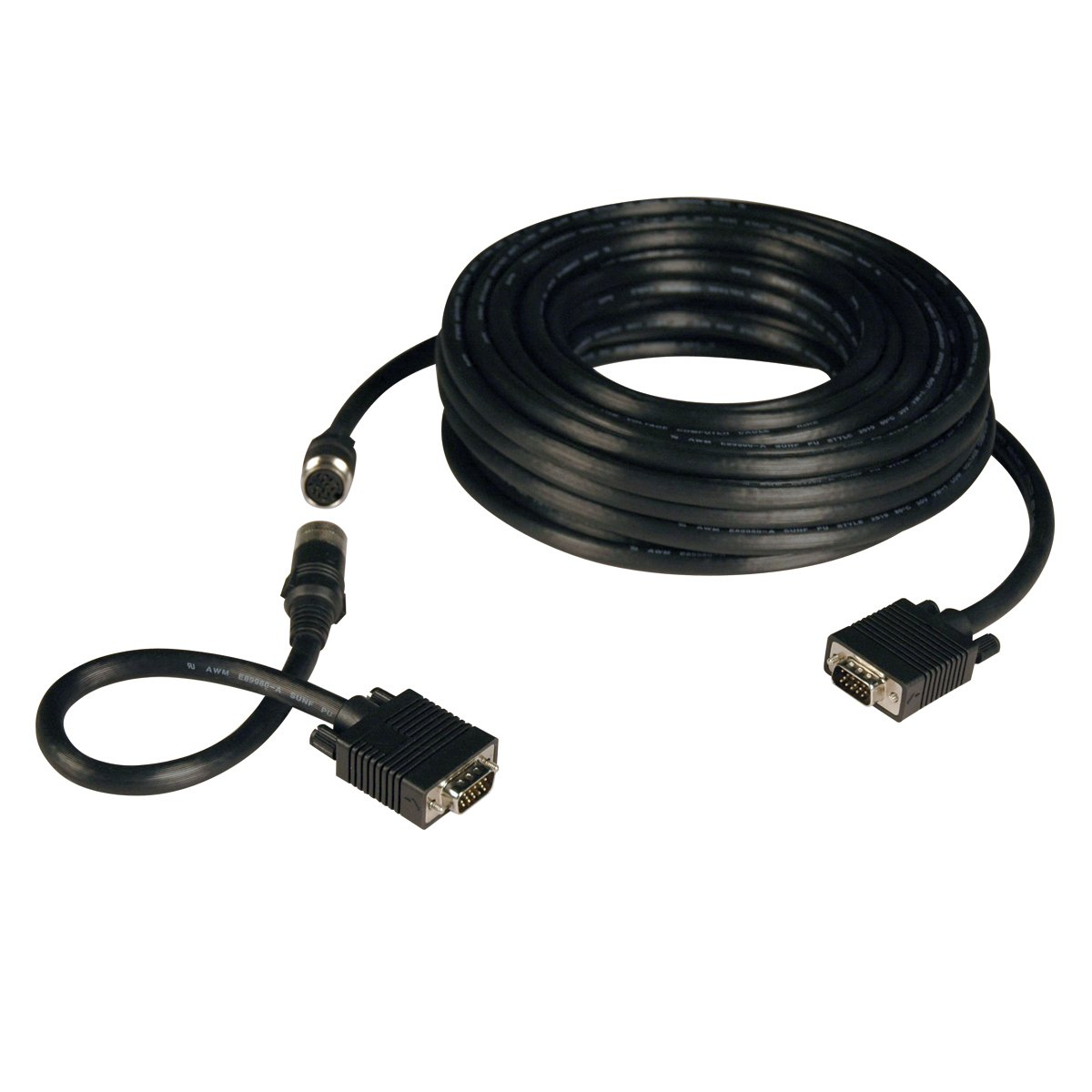 Tripp Lite VGA Coax Monitor Easy Pull Cable , High Resolution cable with RGB coax (HD15 M/M) 50-ft.(P503-050)