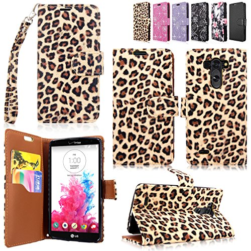 LG G Vista Case-Cellularvilla Pu Leather Wallet Card Flip Open Pocket Case Cover Pouch For LG G Vista VS880 (Verizon / AT&T) (Brown Leopard) (Lg G Vista Wallet Phone Case compare prices)