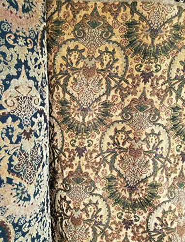 """Quadrille Chenille Fabrics Vintage 54"""" Wide- Moss Green, Sold by Yard"""