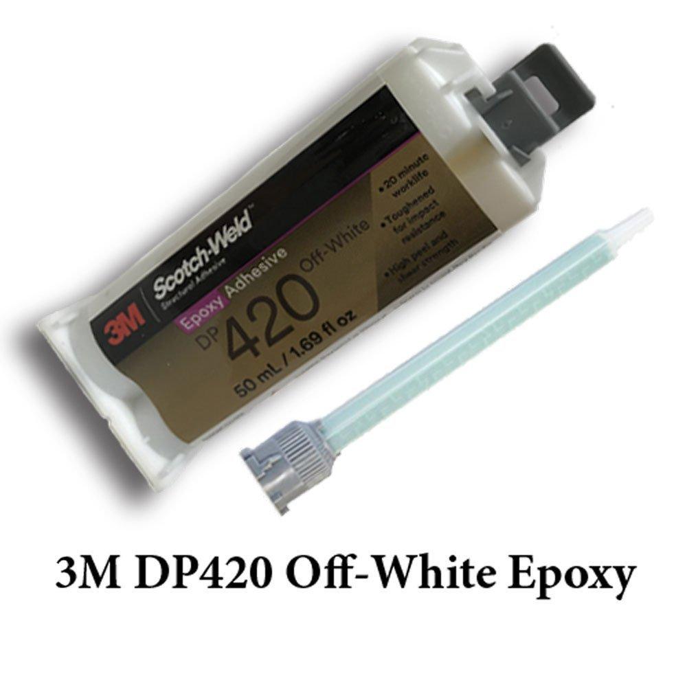 3M ScotchWeld DP420 Off-White 20-Minute Toughened Epoxy Adhesive Caulk Adapter Kit (50ml w/Caulk Gun Adapter Kit) by MMM-3M Scotch-Weld (Image #2)