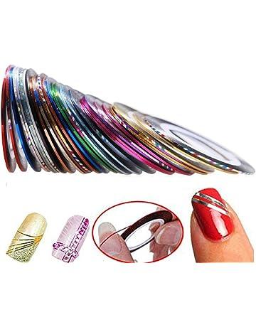 Hosaire 30pcs 30 Mixed Colors Rollos Striping Línea de Cinta Nail Art Decoración Sticker DIY uñas