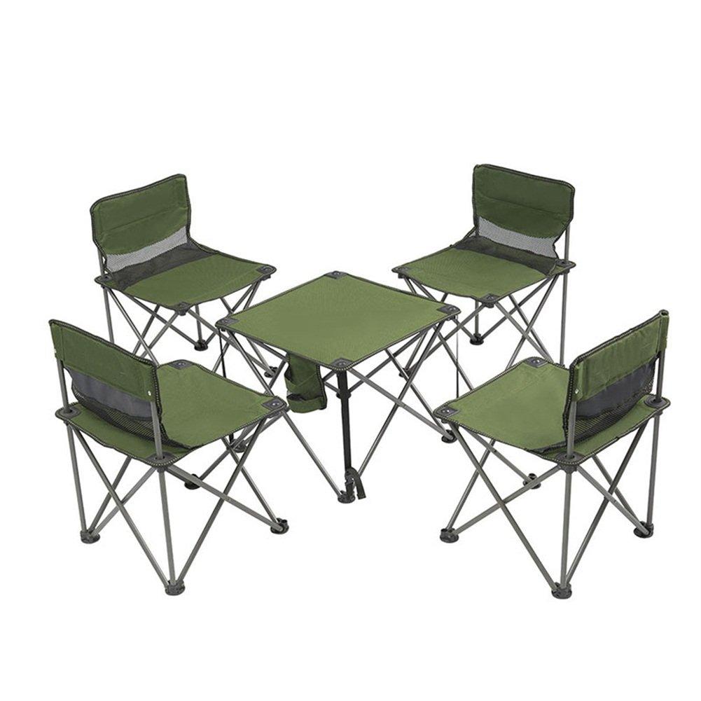 YJchairs Stuhl-Klapptisch, der Ergonomie-Tragbare Starke grüne Schemel mit Rückenlehne für Fischen-Strand-Park-Grill formuliert