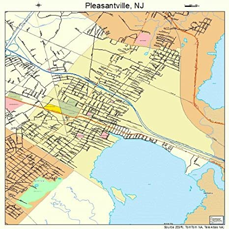Amazon.com: Large Street & Road Map of Pleasantville, New Jersey NJ ...