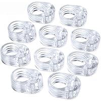 Vanble 10pcs PVC Topes de Puerta Silicona Flexible Ideales para Proteger la Integridad de Paredes,Muebles,Tope de Puerta…