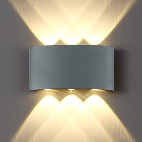 Luxury 2-8W LED Wall Light Waterproof Sconce Up Down Wall Lamp Indoor Outdoor US