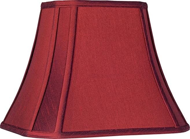 Crimson Red Cut-Corner Lamp Shade 6/8x11/14x11 (Spider) - - Amazon.com