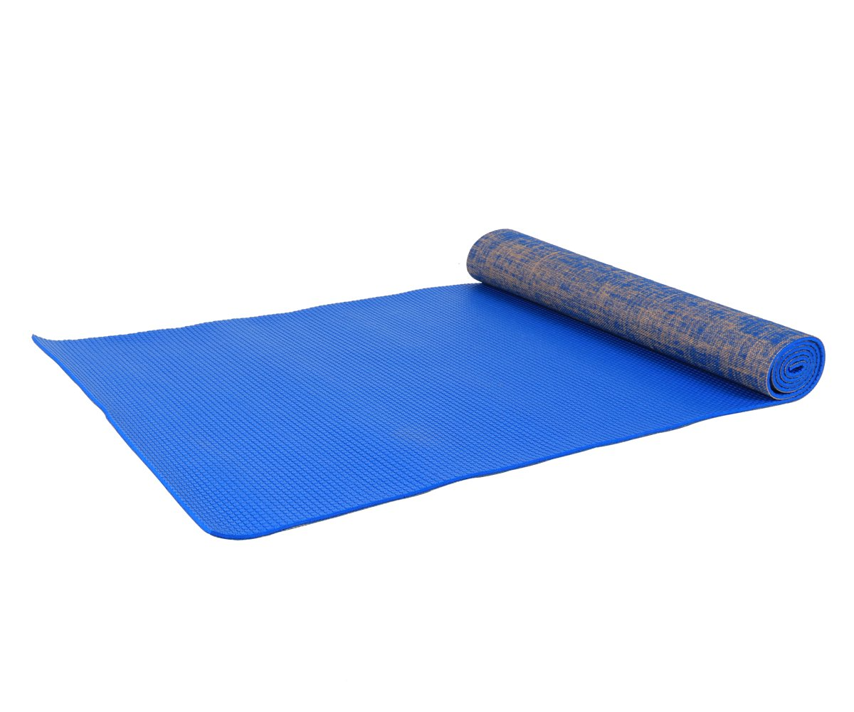 Jindowine Yoga Mat Slip-Proof Sweat-Absorbent PVC and Eco-Friendly Exercise Mat with Carry Bag Linen Yoga Mat for Yoga Gym Pilates Outwork Sitting-Ups ...