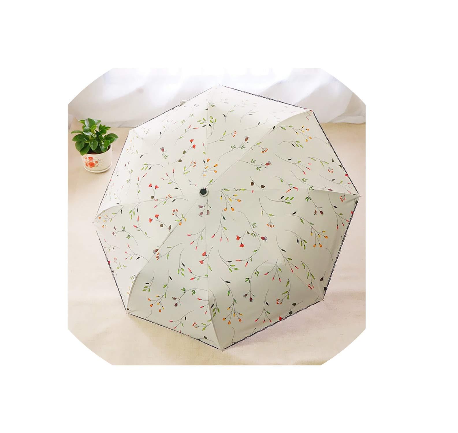 New Arrive Umbrella Anti Uv Upf55+ Strong Windproof Auto Open Auto Close No Rust Frame Rubber Handle Lace For Women,White