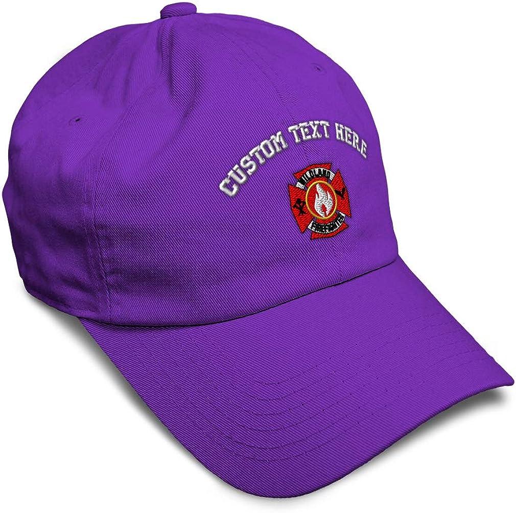 Custom Soft Baseball Cap Wildland Firefighter A Embroidery Twill Cotton