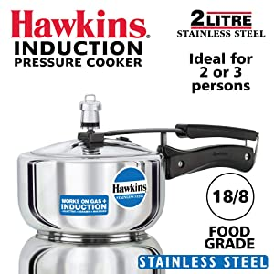 Hawkins B25 Pressure cooker 2 Litre Silver
