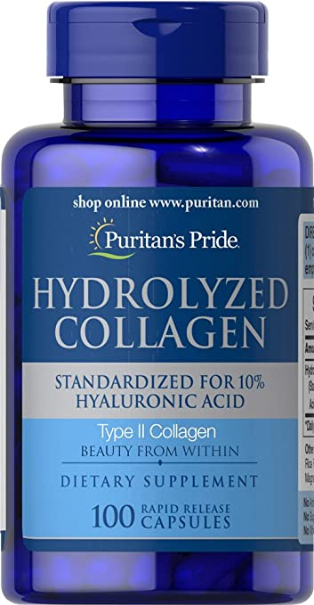 Puritans Pride Hydrolyzed Collagen 400 mg-100 Capsules