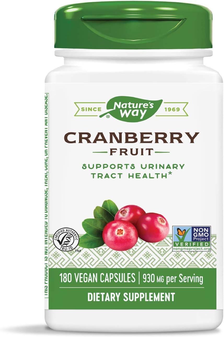 Nature's Way Premium Herbal Cranberry Fruit, 930 mg per serving, 180 Capsules: Health & Personal Care