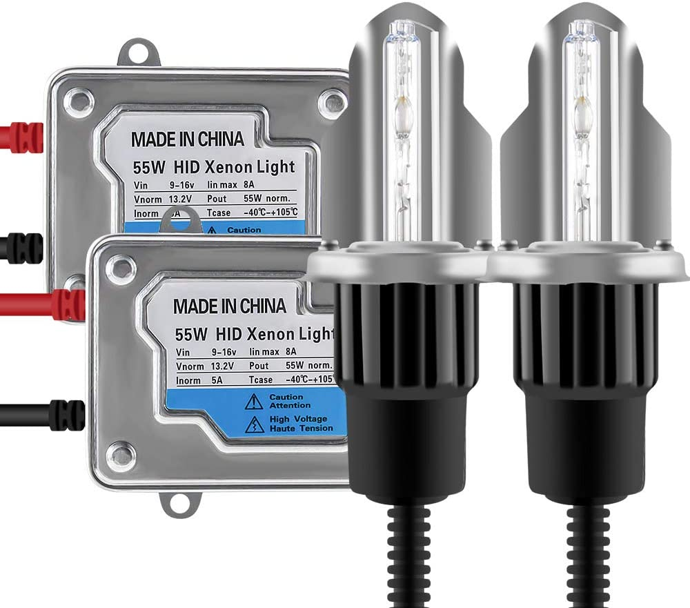 Chemini 2x H4 HID 6000 K xen/ón blanco bombillas 2x 55 W balastos digitales ultrafinos para coche HID kit de conversi/ón de faros de xen/ón faros de luz baja//alta