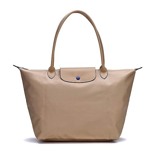 b498c64ffcd22 Longchamp Damen Le Pliage Large Tote Bag (Beige)  Amazon.de  Schuhe ...